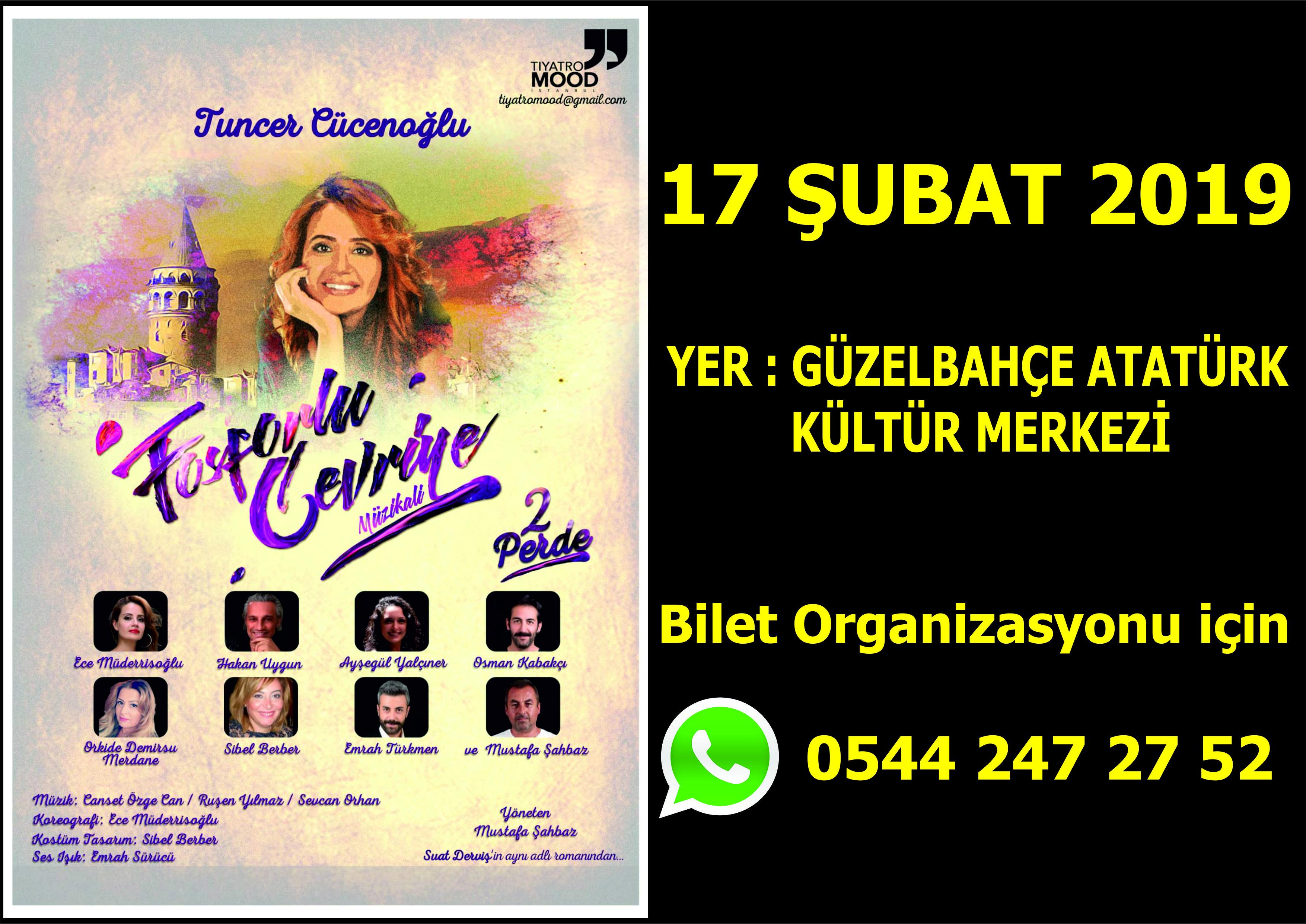 Fosforlu Cevriye 17 Şubat 2019 Pazar Güzelbahçe Atatürk Kültür Merkezi'nde