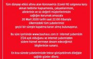 BAUHAUS TÜRKİYE BİR SÜRE SADECE ONLINE MAĞAZASI'NDA HİZMETTE.