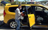 Ticari taksiler dezenfekte ediliyor
